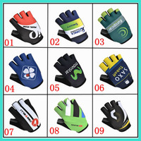 Wholesale 2014 castelli Fdj orica saxo bank movistar scott Cycling Gloves cheap half finger breathable Bicycle Racing Gloves racing short gloves