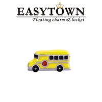 Cheap New design school bus Floating Locket Charms Fit Glass Memory Living Lockets