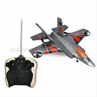 Cheap 4CH F35 RC EPP Airplane Glider Fighter Remote Controller Rechargeable Kids Toys Free EMS 5pcs lot