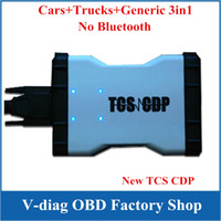 Cheap 2013.3 keygen Delphi DS150E DS150 Newest White TCS CDP PRO Diagnostic Tool TCS CDP Pro Plus ds150e Can Test CAR+TRUCK 3in1 Without Bluetooth