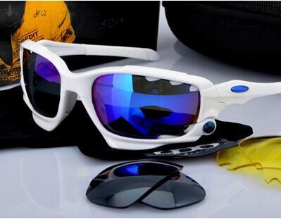All'ingrosso - 100% mens Occhiali da sole, in Bicicletta, Occhiali Occhiali Sport UV400 3 Lenti Lenti da sole Occhiali 24Color può mescolare l'ordine