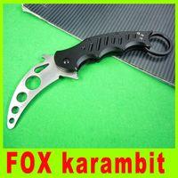 Cheap Pocket knife FOX claw karambit folding training knife G10 handle EDC knife cutiing toold ourdoor knife christmas gift 218L