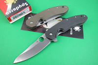 Wholesale Spyderco CT Folding blade knife CTS steel CT Folder pocket Tactical camping hunting gear survival knife knives