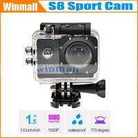Cheap 2014 China Hot sell item 30M Waterproof Helmet Sport Camera Mini DV Sj4000 Style S8 Diving 30 fps (H.264) 1080P HD Action Camera