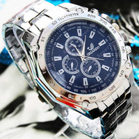 Wholesale 2014 New arrival Men s Fashion Stainless Steel Belt Sport Business Quartz Watch Wristwatches SV000898