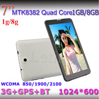 Wholesale 7 inch G WCDMA MTK8382 Tablet PC gb gb GPS Bluetooth Quad Core dual sim Ghz android Dual Sim HD Capacitive Screen phablet