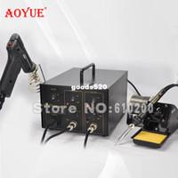 Cheap AOYUE 701A+ Brand 2 in 1 BGA Desoldering Station Electric Vacuum Desoldering Pump Solder Sucker Gun +Soldering Station 220V