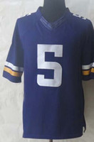 Rugby Men Short 2014 Draft #5 Teddy Bridgewater Purple Elite Football Jerseys Mens Sports Jerseys All Team Players Shirts Cheap Outdoor Apparel