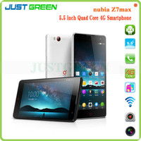 Cheap 2014 New Arrival ZTE Nubia Z7 Max 4G Mobile Phone Android 4.4 Quad Core 2.5GHz 5.5 inch 1080P FHD Screen 2GB Ram 32GB Rom 13.0MP Camera NFC