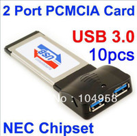 Wholesale 2 Ports USB Laptop PCMCIA Express Card for NEC Chipset Free Express