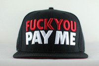 Cheap Fuck you pay me hat hiphop cap hiphop bboy hip-hop hat adjustable letter baseball caps New 2014 Fashion hats for men and women