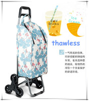 Cheap OP-Hot Sale Waterproof Fold Rolling Heat Insulating Shopping Bag on Wheels Cooler Refrigerator Trolley New Design Easy Go Upstairs