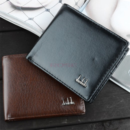 Wholesale 2014 New Vintage Men s Wallet Fine Bifold Brown PU Leather Money Purse Wallet Wallet For Men SV000195