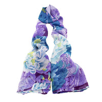 Cheap Chiffon Hotpink and Purple Big Size Flower Scarves and Wraps for Gift 2014 New Items Autumn Chinese Classical
