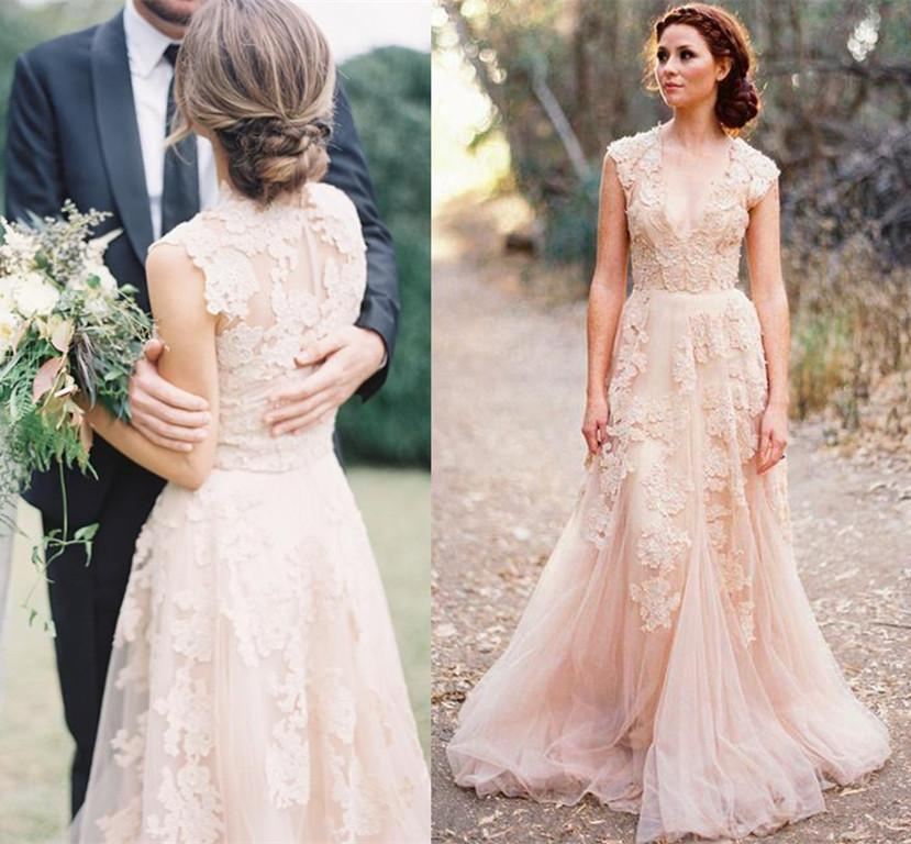 wholesale blush wedding dress
