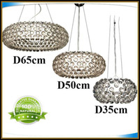 Wholesale Foscarini Caboche Pendant Lights LED Chandelier Lamp By PATRICIA URQUIOLA For Bedroom Modern AC110 V Ceiling Clear Acrylic Ball Fixtrues