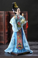 oriental statues - OP Cheap Oriental Broider Doll Chinese Old style figurine China doll girl statue Free Shiping