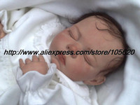 "Cheap OP-20"" Reborn Baby Doll Kit Silicone Vinyl soft head 3 4 arms legs and belly without gender"