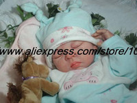 Cheap Wholesale-OP-20 inch Reborn Baby Doll Kit Silicone Vinyl soft head 3 4 arms legs and belly not finished baby