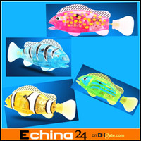 Wholesale New Design LED Robo Fish Mouth Can Move Robo Fish Magical Turbot Fish Christmas Magic Toys Gifts Electronic Pet Fish With LED Light