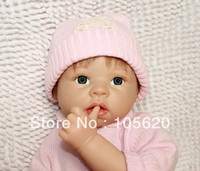 Cheap Wholesale-OP-22 inch Lifelike Reborn baby 3 4 Silicone vinyl soft body doll Toys for girls silicone babies for sale