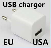 Wholesale 5pcs AC Power Adapter US Plug USB Wall Travel Charger US EU Adapter for Samsung Galaxy Cellphones Multi color AAAAA