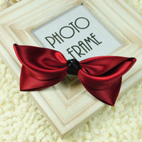 Cheap Women jewelry Head accessories duckbill clip Bowknot hairpin Korea fashion wine red color 8cm hair clip