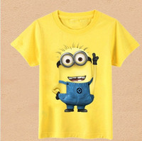 boys t-shirt - Despicable me minions children kids boys short sleeve t shirt Summer minions children s clothing t shirt wholesales pc