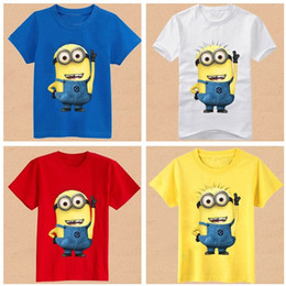 Wholesale Retails Despicable me minions kids boys shirts summer cotton children clothing boys t shirt for baby boys tops tee shirts clothes