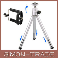Wholesale Portable cellphone Camera Tripods aluminum alloy tripods for Iphone S S Samsung Galaxy S3 S4 S5 Note2 universal