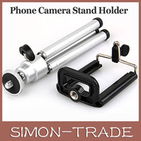 Wholesale Mini cellphone Camera Tripods portable aluminum alloy tripods for Iphone S S Samsung Galaxy S3 S4 S5 Note2 universal