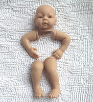 "Cheap Wholesale-Reborn Baby doll kits very soft Silicone Vinyl head 3 4 arms legs for 20-22"" newborn dolls kit"