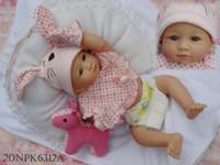 "Cheap OP-22"" full silicone vinyl reborn baby dolls reborn girl lifelike doll washing baby"