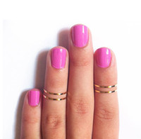 Cheap New Fashion DIY Shinny Cute MIDI knuckle Rings For Women 10pcs Lot Gold Silver Drop Shipping Brand new 16.5MM + Gifts G065