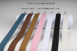Wholesale 1 inch mm wide yards long a roll solid color thick cotton webbing