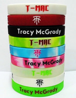 glow in the dark silicone bands - Retail Tracy McGrady silicone wristbands T MAC basketball wrist band bracelet environmental Glow in the dark movement bracelets