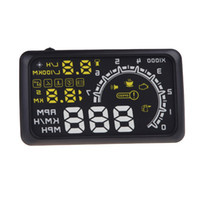 Wholesale 2014 New W02 Car HUD Head Up Display quot Size V Working Voltage With OBDII OBD Interface KM h MPH Speeding Warning
