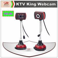 Cheap Wholesale King of KTV Webcams web cameras for laptop computer accessories, with MIC micphone & Night Vision LED Lights YT0101003