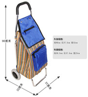 Cheap OP-Free shipping shopping car bags Trolley Foldable shopping cart luggage cart's barrow's small trailer