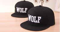 Wholesale 2014 New fashion exo wolf leisure baseball cap hip hop flat along snapback cap hat hats for men