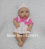 """Cheap OP-12"""" Reborn baby dolls Silicon vinyl Realistic and Lifelike Newborn Baby mini lovely doll for girl's gift"""