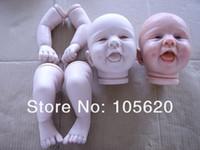 Cheap OP-Soft reborn baby doll kit silicone vinyl head 3 4 arms legs smile newborn babies