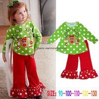 Cheap Christmas Baby Clothing Child Suit Kids Sets Girls Outfits Long Sleeve T Shirt Casual Trousers Children Set Kids Suit Outfits Infant Clothes