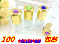 Wholesale Rollerball perfume bottle points bottling perfume bottles ml bottle bottle gemstone beads go perfume bottle cap