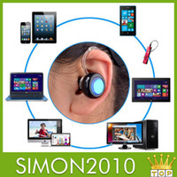 Cheap Bluetooth 4.0 Mobile Headset Smallest Wireless Stereo headphone Earphone super mini headset support Music play answer calls version