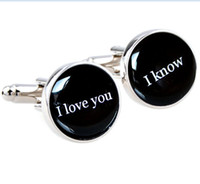 Wholesale I love you I know cufflinks quote gift for him on your wedding day anniversary or just becuase star wars quote