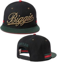 Wholesale Cayler and Sons Hats Fashion Snapback Hats Discount Hip Hop Caps Golden Biggie Letter in Front Popular Swag Caps