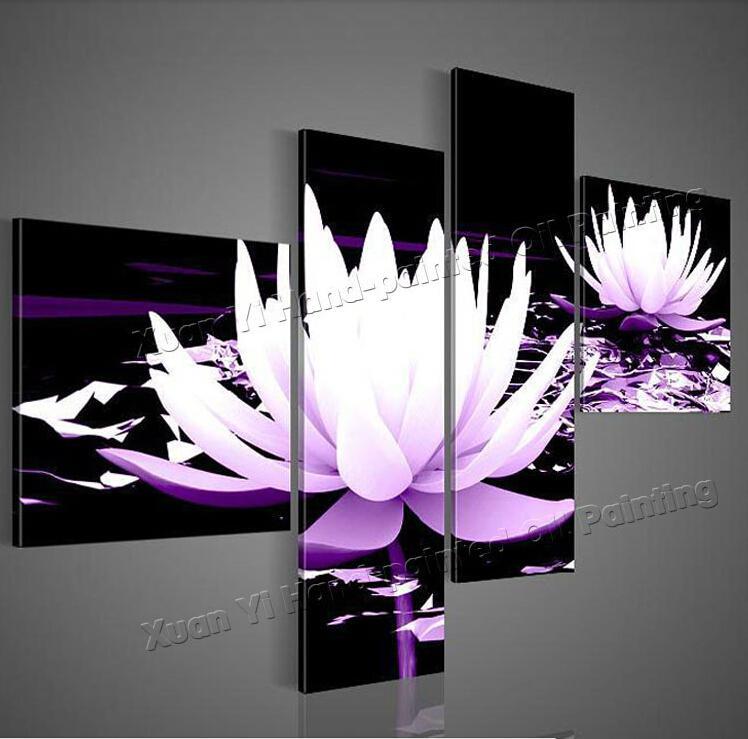 deco salon noir blanc violet - Salon Noir Blanc Violet