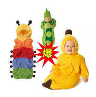 Cheap Free Post infants and children 0-3 years old sleeping bag banana pajamas nightgowns plants anti kick blankets