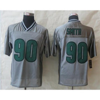 Wholesale 2014 New Draft Eagles Marcus Smith Grey Vapor Elite Jerseys High Quality Embroidered American Football Shirts Cheap Sport Jerseys